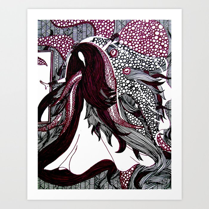 Tangled   Limited Edition of 50 Prints Art Print