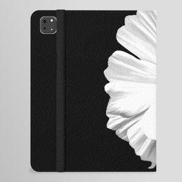 Springtime Aneomone In Black And White iPad Folio Case