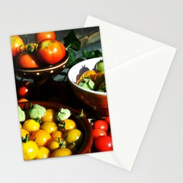 Yellow and red tomatoes II Stationery Cards