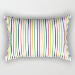lovely stripes navy Rectangular Pillow