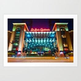 Saint Louis Cardinals Busch Stadium Art Print
