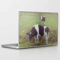 cows Laptop & iPad Skins featuring Rustic Cows by Olivia Joy StClaire