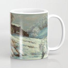 "Gustave Courbet ""Effet de neige (Snow Effect)"" Coffee Mug"