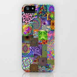 Psychedelic Montage iPhone Case