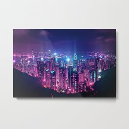 Neo Hong Kong Metal Print