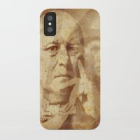 crowley iPhone & iPod Cases featuring Mr. Crowley by Rodrigo Grola