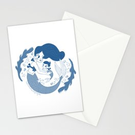 Mermaid mother and daughter Stationery Cards