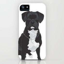 The Black & White Boxer iPhone Case