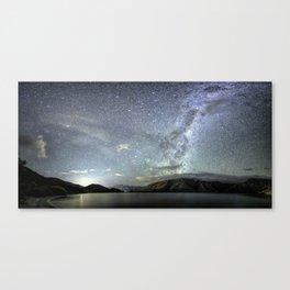 New Zealand Southern Hemisphere Skies Over Lake Wakatipu by OLena Art Canvas Print
