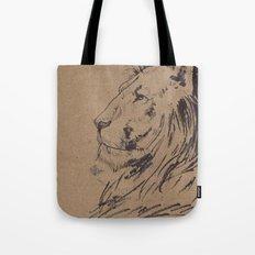 Lion Profile Tote Bag