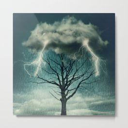 tree storm Metal Print