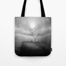 Black and White - Blue sunrise Tote Bag