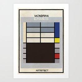 mondrian+eames Art Print