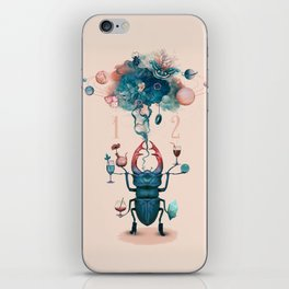 funny beetle iPhone Skin