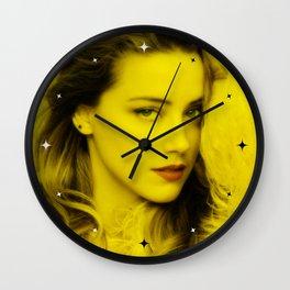 Amber Heard - Celebrity (Florescent Color Technique) Wall Clock