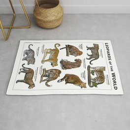 Leopards of the World Rug