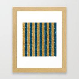 Cosmic Pinstripes Framed Art Print