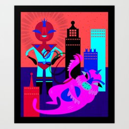 Space Invaders Art Print