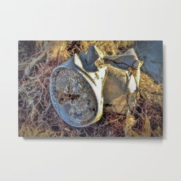 Beach Beer Cans Series-Please Don't Litter Metal Print
