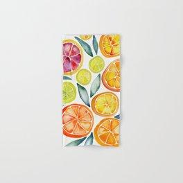 Sliced Citrus Watercolor Hand & Bath Towel