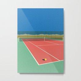 Tennis Court In The Desert Metal Print