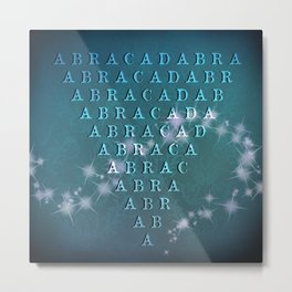 Abracadabra Reversed Pyramid in Turquoise Metal Print
