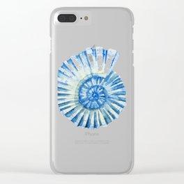 Blue Sea Snail Clear iPhone Case