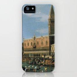 Canaletto Bernardo Bellotto  -  Return Of il Bucintoro On Ascension Day iPhone Case