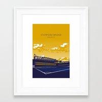 chelsea fc Framed Art Prints featuring Stamford Bridge (Chelsea FC) by IamBlonde