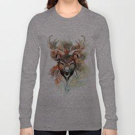 Deer- color brown Long Sleeve T-shirt