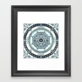 Blue gothic Framed Art Print