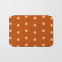 """Polka Dots Degraded & Orange Cream"" Bath Mat"