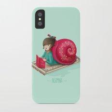 Cozy snail iPhone X Slim Case