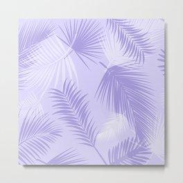 Tropical Purple Leaf Print Metal Print