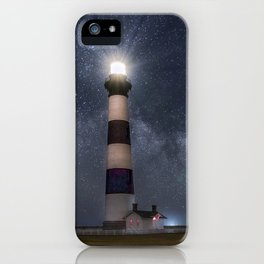 Bodie Island Lighthouse with Milky Way Core iPhone Case