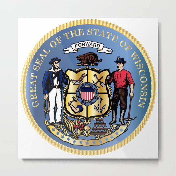 Wisconsin State Seal Metal Print