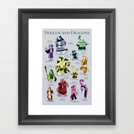 Doggos and Dragons Framed Art Print