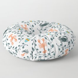 Lobster and Crab Motif Floor Pillow