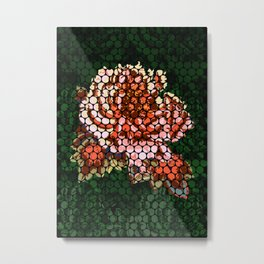 Porcelain Orange Rose Metal Print
