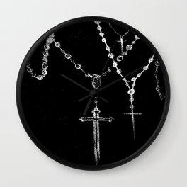 black. Wall Clock