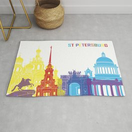 ST. Petersburg skyline pop Rug