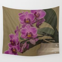 orchid Wall Tapestries featuring Orchid by Steve Purnell