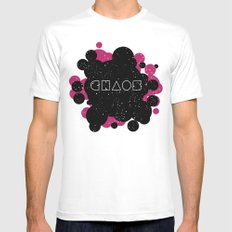 Chaos Mens Fitted Tee White MEDIUM