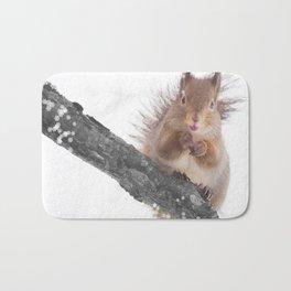 Little squirrel - smack! Bath Mat