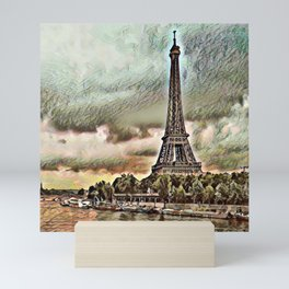 Toony Travel - Paris Mini Art Print