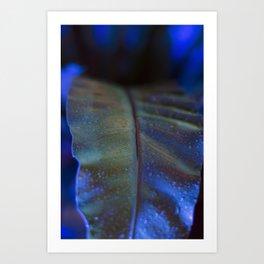 The Night Garden Blue Art Print