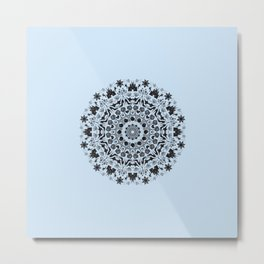 Princess Mandala - Blue Metal Print