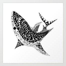 Mr Shark ecopop Art Print