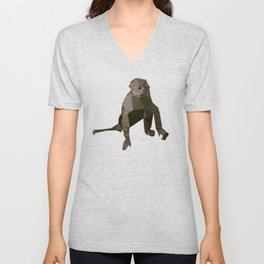 Geometric Monkey Unisex V-Neck