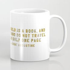 A Traveler's Heart + Quote Mug